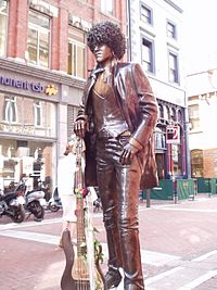 Statue of Irish Musician Phil Lynott, Dublin