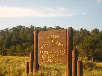 Philmont Scout Ranch - Entrance sign at Philmont