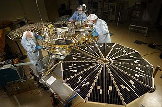 Phoenix (spacecraft) - Phoenix during testing in September 2006