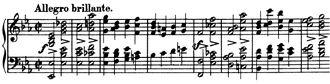 Piano Quintet (Schumann) - Movement 1, piano part, mm.1-8