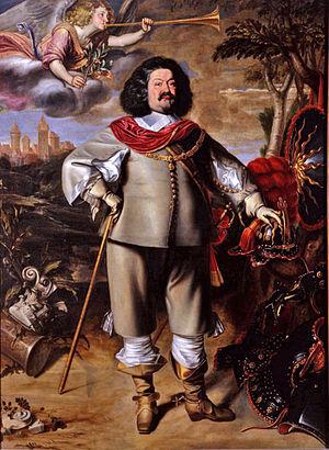 Ottavio Piccolomini - Portrait of Ottavio Piccolomini by Anselm van Hulle, Collezione Luca Cristini