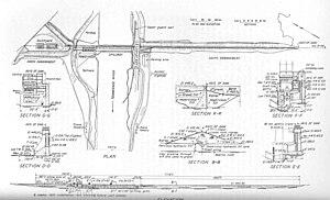 Pickwick Landing Dam - The original design plan for Pickwick Landing Dam, circa 1935