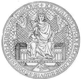 Casimir III the Great - Image: Pieczec Kazimierz Wielki