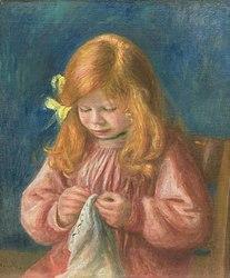 Auguste Renoir: Jean Renoir cousant