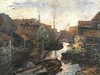 Piet Mondriaan - Lange Bleekerssloot, view toward the Kostverlorenvaart - A181 - Piet Mondrian, catalogue raisonné.jpg