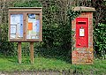 Pillar Box and Parish Noticeboard, East Stratton - geograph.org.uk - 355028.jpg