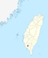 Là, est pointé Pingtung, la localité où Likulau, la panthère nébuleuse anthropomorphe, souhaite emmener le protagoniste. C'est situé à l'opposé de Taipei dans le sud du pays.