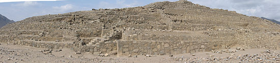 Una de las pirámides de Caral