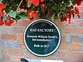 Plaque for William Tooth's hat manufactory - geograph.org.uk - 880483.jpg