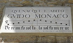Plaque of Guido Monaco, Arezzo.JPG