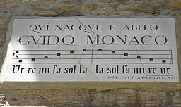 Plaque of Guido Monaco, Arezzo