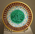 Plate, Josiah Wedgwood and Sons, c. 1870, majolica - Chazen Museum of Art - DSC01994.JPG