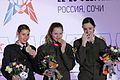 Podium in sport climbing, lead, 3rd CISM WInter Military World Games.jpg