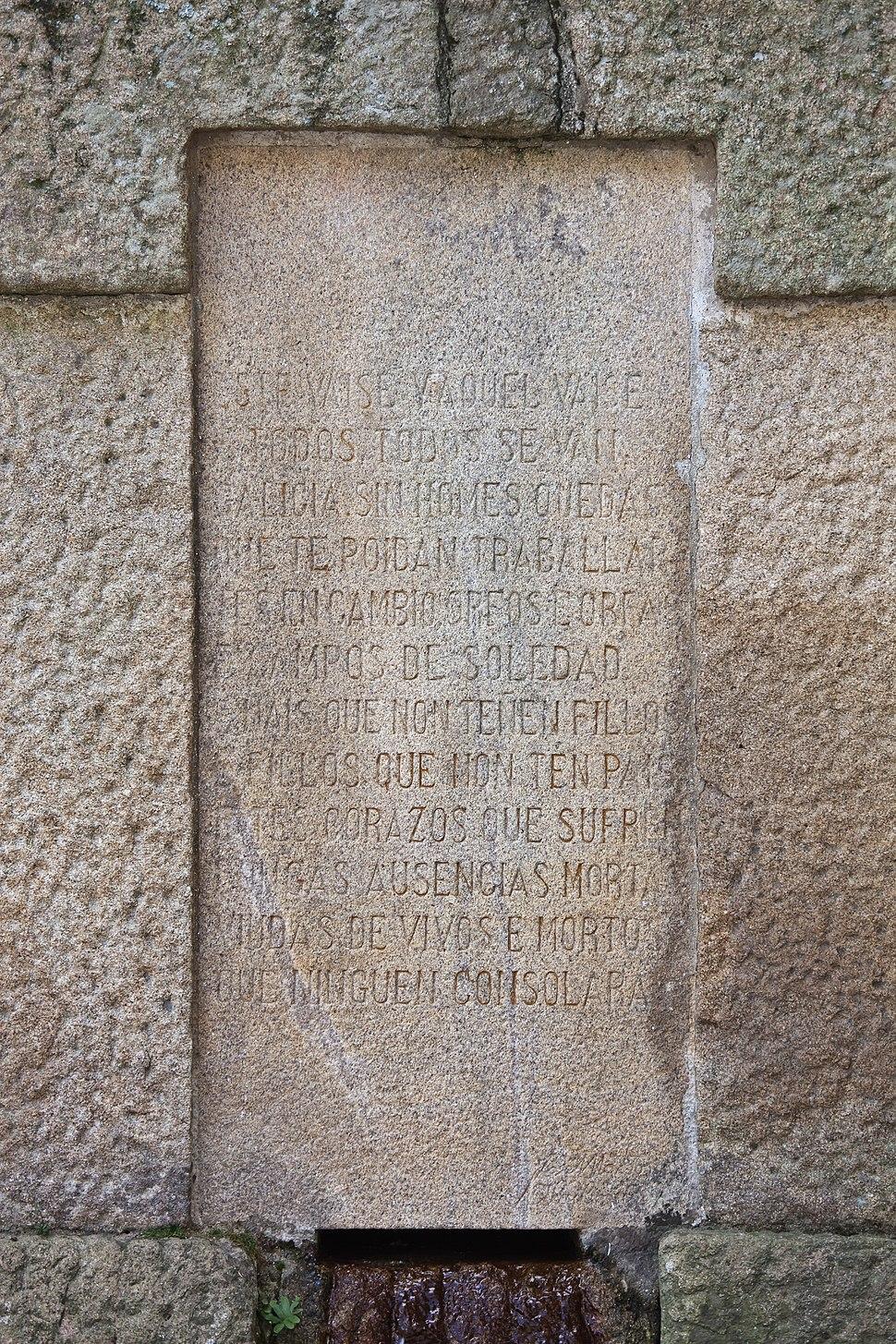 Poema de Rosalía de Castro - Padrón - Galiza - PA31