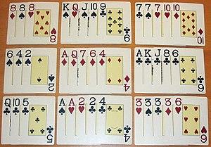 Chinese poker - Image: Poker Chinese Beispiel 1
