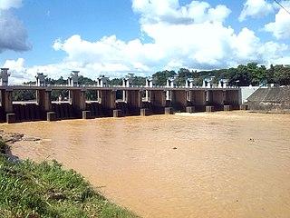 Polgolla Barrage Dam in Polgolla, Central Province