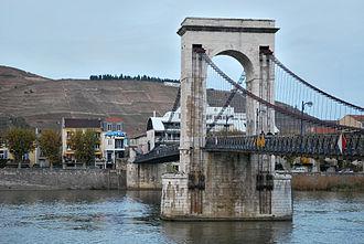 Exposition des produits de l'industrie française - Cable bridge of Marc Seguin between Tain and Tournon