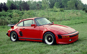 "Porsche 930 - A 1982 Porsche 911 SC modified to the Flachbau (""flatnose"" or ""slantnose"") appearance"