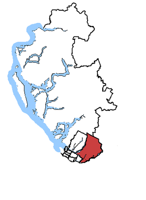 Port Moody—Westwood—Port Coquitlam - Port Moody—Westwood—Port Coquitlam in relation to other Greater Vancouver federal electoral ridings.