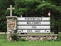 Porterfield Marinette Co. Wisconsin - Welcome sign.JPG