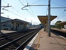 Vista della stazione in direzione Mestre