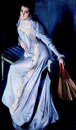 Eugenia Errázuriz - Portrait of Eugenia Huici Arguedas de Errazuriz. Jacques-Emile Blanche. Dixon Gallery and Gardens.