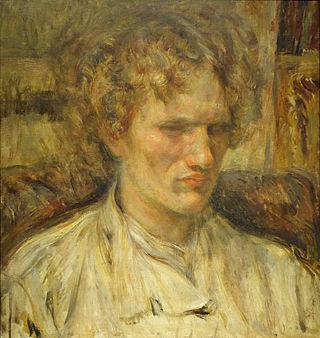 Portrait of Vasilii Yaroshenko by Tsune Nakamura, 1920, oil on canvas - National Museum of Modern Art, Tokyo - DSC06549.JPG