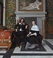 Portrait of a Man and Woman in an Interior, about 1666 by Eglon van der Neer.jpg