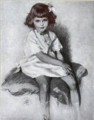 Portrait of a child by Lydia Field Emmet 1921.png