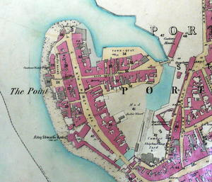 Portsmouth Point - Image: Portsmouth point OS25 inch to mile 1858