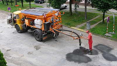 Spray Injection Device For Pothole Repair All In One Unit The Czech Republic