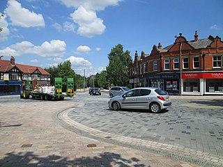 Poynton town in Cheshire