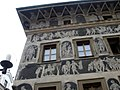 Praha - Staroměstské náměstí - View WSW on Sgrafitti - Renaissance.jpg