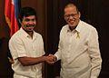 President Benigno S. Aquino III greets Sarangani Lone District Representative Manny Pacquiao.jpg