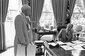 Philip W. Buchen - Buchen with President Ford in 1975