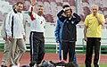 President Mahmoud Ahmadinejad, Iran's national football (soccer) team - 28 February 2006 (8 8412090596 L600).jpg