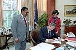 President Ronald Reagan Signing HR 2230.jpg