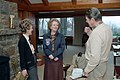 President Ronald Reagan and Nancy Reagan with Prime Minister Margaret Thatcher Inside Aspen Lodge at Camp David.jpg