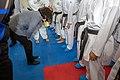 President Tsai Ing-wen bows to the Olympic Taekwondo training team at the National Sports Training Center 20210413.jpg