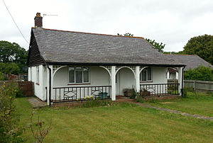 Preston Hall, Aylesford - Preston Hall Colony, a typical cottage, showing the outside verandah.
