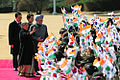 Prime Minister Manmohan Singh and his wife are welcomed at Cheong Wa Dae.jpg