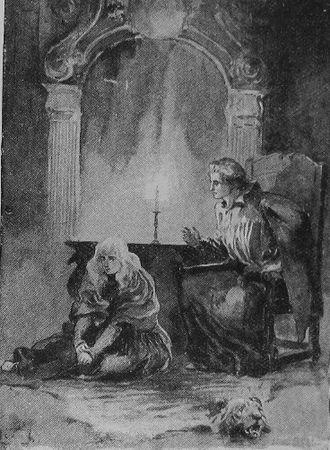 "The Princess (Tennyson poem) - ""O marvellously modest maiden, you"" – 1890 illustration"