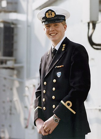 Willem-Alexander of the Netherlands - Willem-Alexander in the navy uniform of Sub-lieutenant in 1986