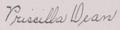 Priscilla Dean signature (Sep 1921).png