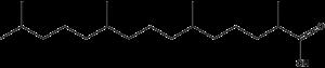 Pristanic acid - Image: Pristanic Acid