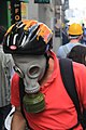 Protester with gas mask during Gezi Park protests in Istanbul.jpg