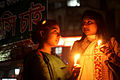 Protesters at Shahbag two girls.JPG