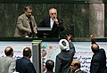 Protests against JCPOA during Ali Akbar Salehi speech in the Parliament.jpg
