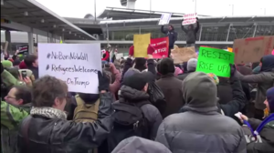Reactions to Executive Order 13769 - Protests against the order at New York's John F. Kennedy International Airport