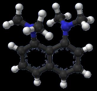 1,8-Bis(dimethylamino)naphthalene - Image: Proton Sponge from xtal 1999 3D balls A